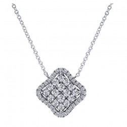 Gabriel Fashion 14 Karat Clustered Diamonds Necklace NK4771W45JJ