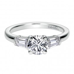 Gabriel 14 Karat Contemporary Engagement Ring ER7795W44JJ