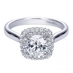 Gabriel 14 Karat Contemporary Engagement Ring ER7820W44JJ