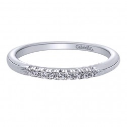Gabriel 14 Karat Contemporary Wedding Band WB10422W44JJ
