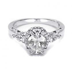 Tacori Dantela Platinum Engagement Ring 2624OVLG