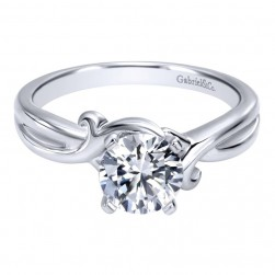 Gabriel 14 Karat Contemporary Engagement Ring ER10499W4JJJ