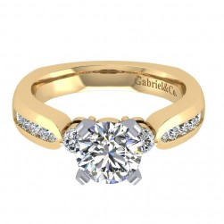 Gabriel 14 Karat Contemporary Engagement Ring ER3993M44JJ