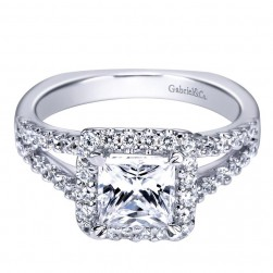 Gabriel 14 Karat Contemporary Engagement Ring ER4109W44JJ
