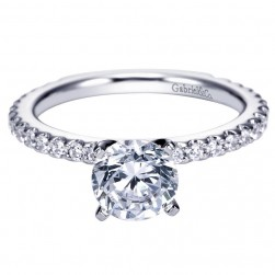 Gabriel 14 Karat Contemporary Engagement Ring ER4124W44JJ