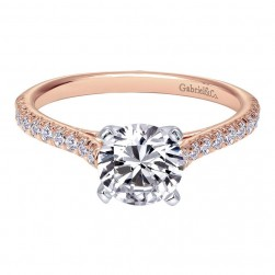 Gabriel 14 Karat Contemporary Engagement Ring ER7224T44JJ