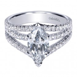 Gabriel 14 Karat Contemporary Engagement Ring ER8902W44JJ