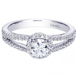 Gabriel 14 Karat Contemporary Engagement Ring ER96414W44JJ