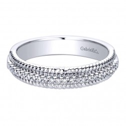 Gabriel 14 Karat Contemporary Wedding Band WB9484W44JJ