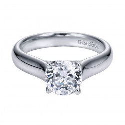 Gabriel Platinum Contemporary Engagement Ring ER6602PTJJJ