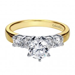Gabriel 14 Karat Contemporary Engagement Ring ER3713M44JJ