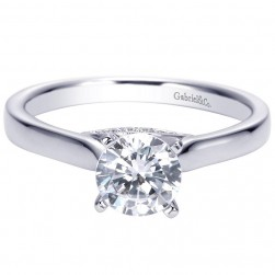 Gabriel 14 Karat Contemporary Engagement Ring ER7975W44JJ