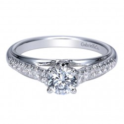 Gabriel 14 Karat Contemporary Engagement Ring ER98555W44JJ