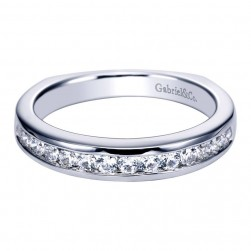 Gabriel 14 Karat Contemporary Wedding Band WB3963W44JJ