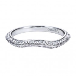 Gabriel 14 Karat Contemporary Wedding Band WB7539W44JJ