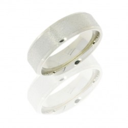 Lashbrook 18KW7B STONE-POLISH Precious Metal Wedding Ring or Band
