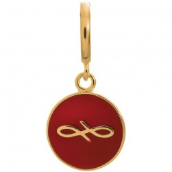 Endless Jewelry Red Endless Coin Gold Plated Charm 53345-9