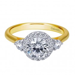 Gabriel 14 Karat Contemporary Engagement Ring ER7482M44JJ