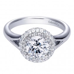 Gabriel 14 Karat Contemporary Engagement Ring ER7814W44JJ