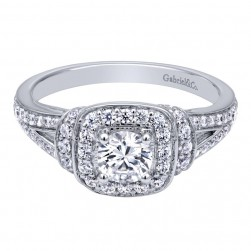 Gabriel 14 Karat Contemporary Engagement Ring ER910137R0W44JJ