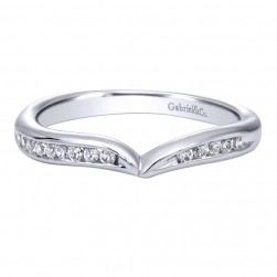 Gabriel 14 Karat Contemporary Wedding Band WB10124W44JJ