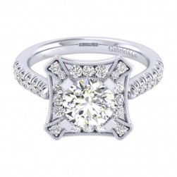 Gabriel 14 Karat Perfect Match Engagement Ring ER039C6AEW44JJ