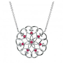 Gabriel Fashion Silver Blossoming Heart Necklace NK3943SVJRA