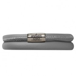 Endless Jewelry Grey Double Bracelet Silver Lock 12103