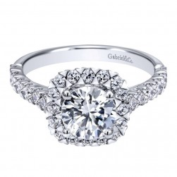 Gabriel 14 Karat Contemporary Engagement Ring ER10288W44JJ