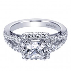 Gabriel 14 Karat Contemporary Engagement Ring ER6004W44JJ