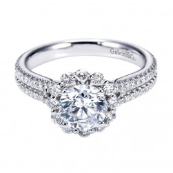 Gabriel 14 Karat Contemporary Engagement Ring ER6710W44JJ