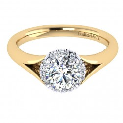 Gabriel 14 Karat Contemporary Engagement Ring ER7807M44JJ