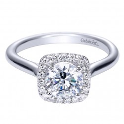 Gabriel 14 Karat Contemporary Engagement Ring ER7819W44JJ