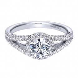 Gabriel 14 Karat Contemporary Engagement Ring ER8055W44JJ