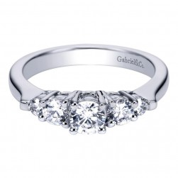 Gabriel 14 Karat Contemporary Engagement Ring ER93869W44JJ