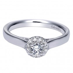 Gabriel 14 Karat Contemporary Engagement Ring ER98642W44JJ