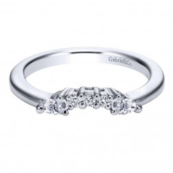 Gabriel 14 Karat Contemporary Wedding Band WB3803W44JJ