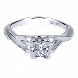 Gabriel 14 Karat Contemporary Engagement Ring ER11871S2W4JJJ