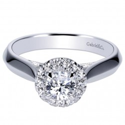 Gabriel 14 Karat Contemporary Engagement Ring ER8710W44JJ