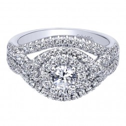 Gabriel 14 Karat Contemporary Engagement Ring ER910093W44JJ