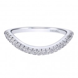 Gabriel 14 Karat Contemporary Wedding Band WB10098W44JJ