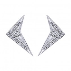 Gabriel Fashion 14 Karat Downtown Stud Earrings EG12455W45JJ