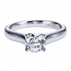Gabriel Platinum Contemporary Engagement Ring ER6601PTJJJ