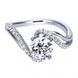 Gabriel 14 Karat Contemporary Engagement Ring ER6972W44JJ