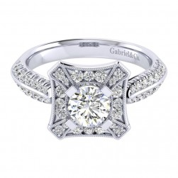 Gabriel 14 Karat Perfect Match Engagement Ring ER002B3AEW44JJ