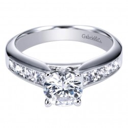 Gabriel 14 Karat Contemporary Engagement Ring ER3964W44JJ