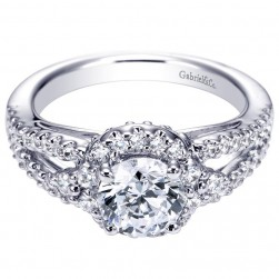Gabriel 14 Karat Contemporary Engagement Ring ER6008W44JJ