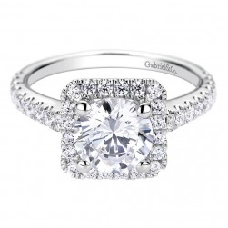 Gabriel 14 Karat Contemporary Engagement Ring ER9329W44JJ
