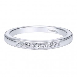 Gabriel 14 Karat Contemporary Wedding Band WB9550W44JJ