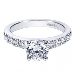 Gabriel 14 Karat Contemporary Engagement Ring ER3950W44JJ